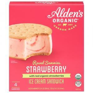 Alden's Organic Strawberry Ice Cream Sandwiches