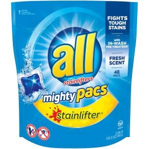 All Mighty Pacs Stain Lifters Laundry Detergent