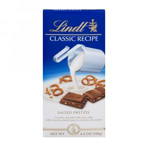 Lindt Classic Recipe Salted Pretzel Bar