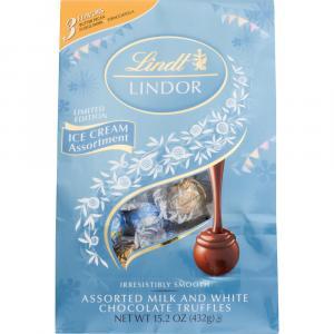 Lindt Lindor Ice Cream Assortment Milk and White Chocolate