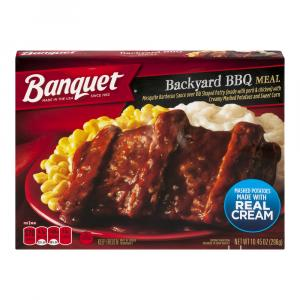 Banquet Classic Rib Shaped Patty Meal