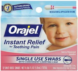 Orajel Teething Pain Swabs