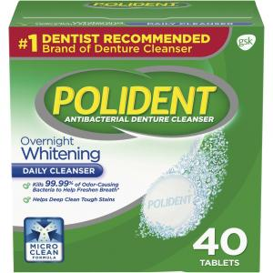 Polident Overnight Whitening Denture Tablets