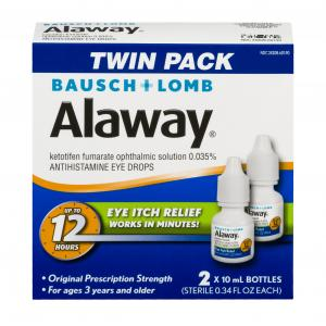 Bausch + Lomb Alaway Allergy Eye Itch Relief Twin Pack