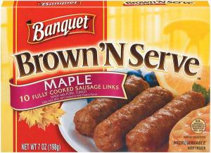 Banquet Brown 'n Serve Maple Sausage Links