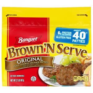 Banquet Value Pack Brown 'N Serve Original Sausage Patties