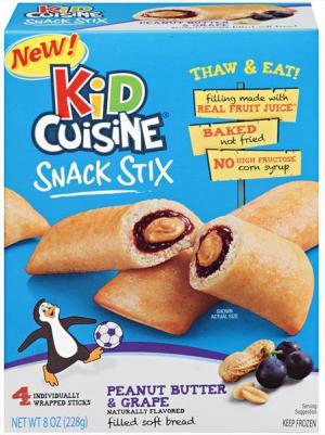 Kid Cuisine Snack Stix Peanut Butter & Grape Jelly