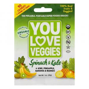 You Love Veggies Spinach & Kale Veggie Snack