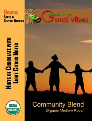 Good Vibes Community Blend Whole Bean Coffee