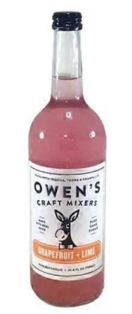 Owen's Grapefruit + Lime Craft Mixers