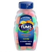 Tums E-X Assorted Flavor Chewable Antacid Tablets