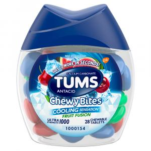 Tums Antacid Chewy Bites Cooling Effect Fruit Fusion
