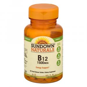 Sundown Naturals High Potency Vitamin B-12 1500 mcg