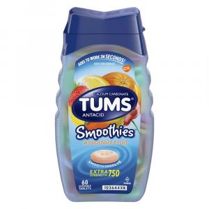 Tums Smooth Assorted Fruit Antacid Tablets