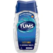 Tums Ultra Strength 1000 Peppermint Antacid Tablets