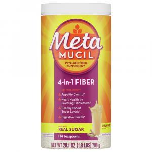 Metamucil Original Coarse Fiber Powder with Real Sugar