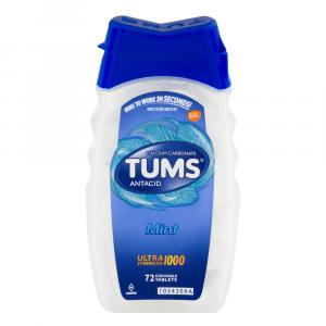 Tums Ultra 1000 Peppermint Chewable Antacid Tablets