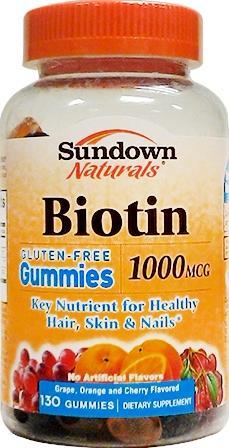 Sundown Naturals Biotin Gummies