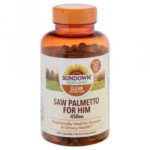 Sundown Naturals Saw Palmetto 450 mg Capsules
