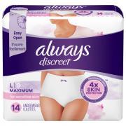 Always Discreet For Sensitive Skin Underwear Large