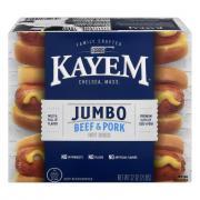 Kayem Jumbo Beef & Pork Hot Dogs