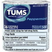 Tums Peppermint Chewable Antacid Tablets