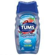 Tums Smooth Disolve Berry Fusion Chewable Antacid Tablets
