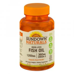 Sundown Naturals Odor-Less Fish Oil 1200 MG Softgels