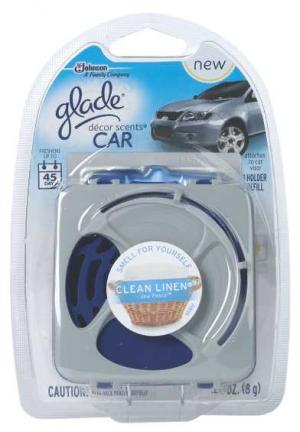 Glade Decor Scents Car Clean Linen