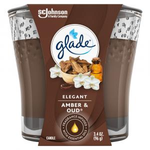Glade Elegant Amber & Oud Candle