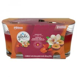 Glade Candle Hawaiian Breeze & Vanilla Passion Fruit