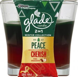 Glade Be At Peace And Cherish The Present Candle