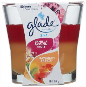 Glade 2in1 Candle Vanilla Passion Fruit & Hawaiian Breeze