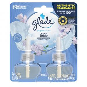 Glade PlugIns Clean Linen Scented Oil Refills