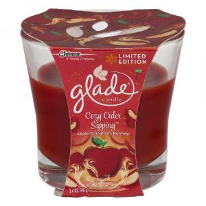Glade Candle Cozy Cider Sipping