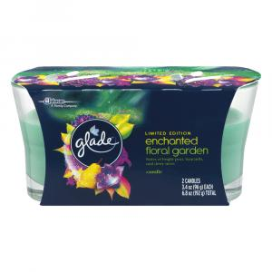 Glade Limited Edition Enchanted Floral Garden Candles
