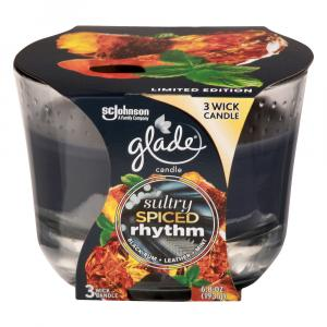 Glade Sultry Amber Rhythm Three Wick Candle