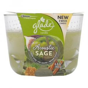 Glade Acoustic Sage Three Wick Candle