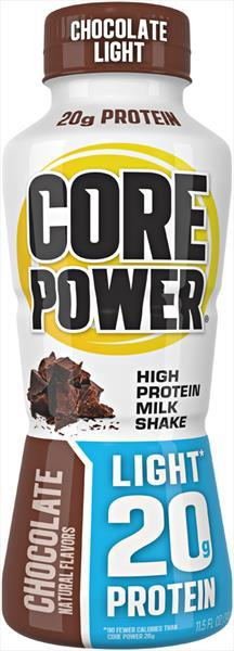 Core Power Light Chocolate Milk Shake