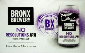Bronx No Resolutions IPA