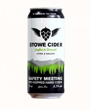 Stowe Cider Safety Meeting Dry Hopped Hard Cider