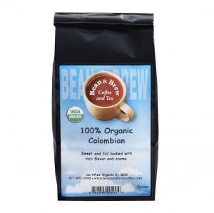 Bean & Brew Whole Bean Organic Colombian Coffee