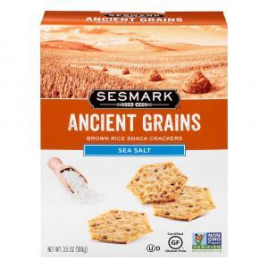 Sesmark Ancient Grains Sea Salt All Natural Snack Crackers