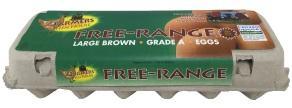 Farmer's Hen Free Range Medium Brown Grade A Eggs