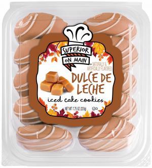 Dulce de Leche Iced Cake Cookies