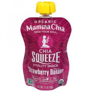Mamma Chia Strawberry Banana Squeeze Pouch