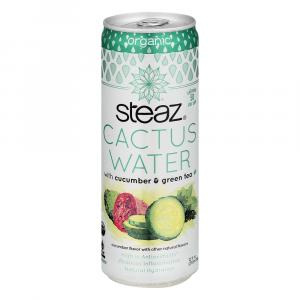 Steaz Organic Cactus Water With Cucumber And Green Tea