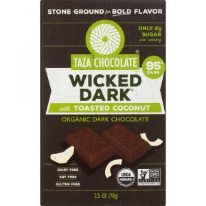 Taza Organic Wicked Dark Chocolate Toasted Coconut