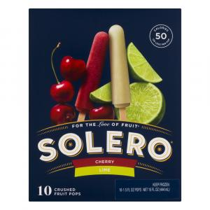 Solero Cherry & Lime Crushed Fruit Pops