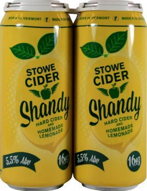 Stowe Cider Summer Shandy Semi Dry Hard Cider
